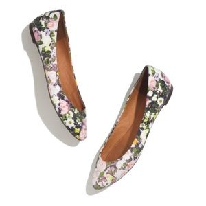 Shoes - Madewell floral sidewalk skimmers